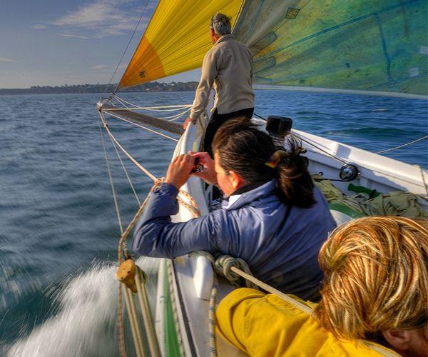 Activité photo-reportage à bord de voiliers traditionnels